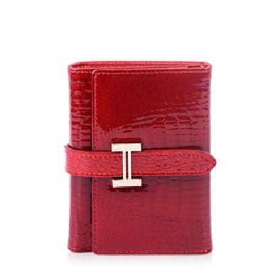 100% genuine leather women short walets Crocodile Ms. fold wallet fashion clutch purse oml--w010 - YOHE BAG store