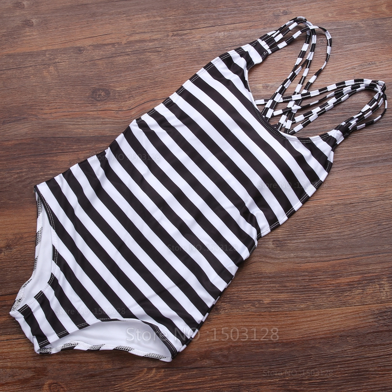 New Fashion Hot Sexy Women's Striped Bikini monokini One Piece Swimwear Push-Up Padded Beachwear Sun Bathing Swimsuit(China (Mainland))