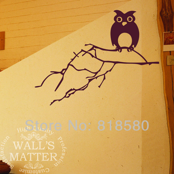 Free Shipping Home Decor Large Lovely Owl on the Tree