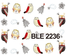 Water decal Nail Stickers cartoon owl design Stylish Nail Tip Wraps Nail Decoration Tools BLE 2226