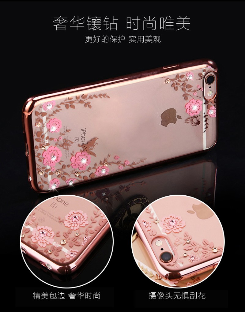 For iphone 7 case TPU Cover Original for iphone 5 5s se 6 6s 6s plus 7 plus Luxury Protection Soft Shell Secret garden series