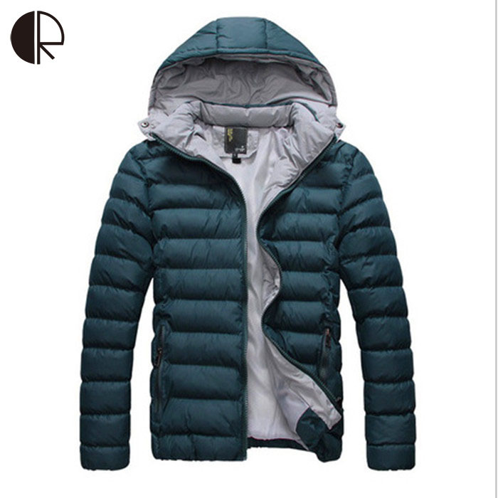 2015 New Best Fashion Casual Mens Winter Cotton Solid Coat Three colors Wholesale MC931(China (Mainland))