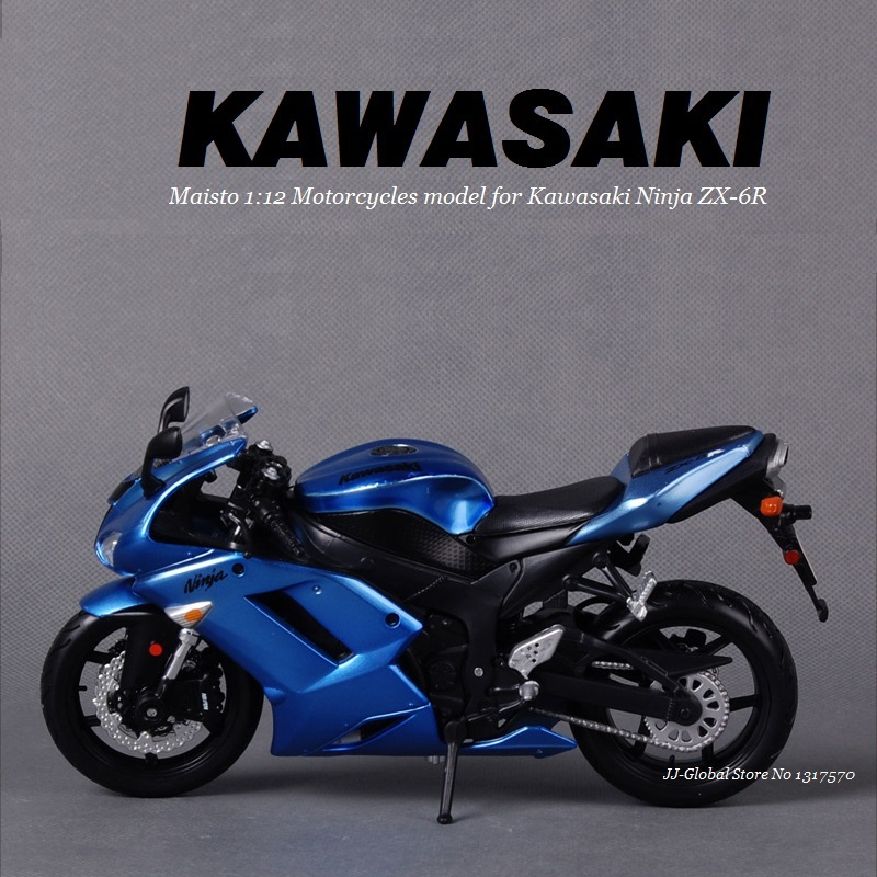 1:12 Alloy ABS Plastic Super Motorcycle Model for Kawasaki Ninja ZX-6R Best of Packing Box as Toys Gift and Collection for Boys(China (Mainland))