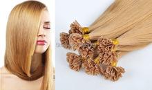 Pre Bonded Hair Extensions Human 100S Italian keratin Nail U-TIP Pre Bonded Hair Extensions Remy Virgin Brazilian Straight Hair(China (Mainland))