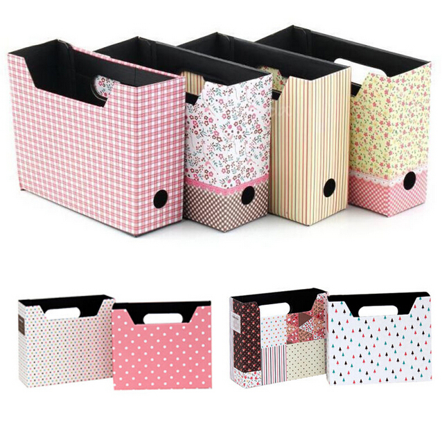 1PC New DIY Makeup Cosmetic Stationery Paper Board Storage Box Desk Decor Organizer(China (Mainland))