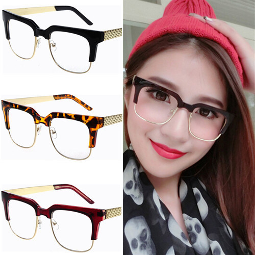 Glasses Frames For 60 Year Old Man : Semi rim Vintage large square eyeglasses frame for men ...