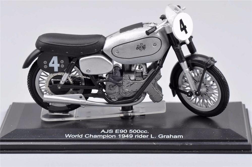 Italeri Moto Mannequin 1/22 Scale NO.Four AJS E90 500 cc Bike World Champion 1949 Diecast Moto Mannequin KidsToys Boy Presents