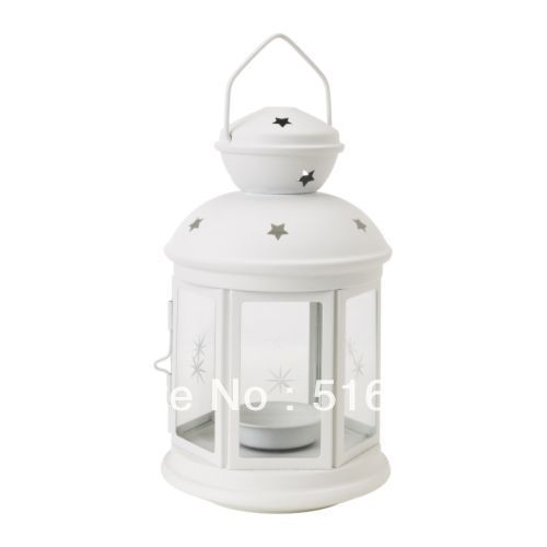 Big promotion ikea rotera white iron candle holder