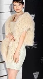 Korean Fashion Lady New Faux Fur Cloak IYYegular Vest Coat Sleeveless Mongolia Sheep Fur Casual Elegant Galaxy Celeb Vest YY1024(China (Mainland))