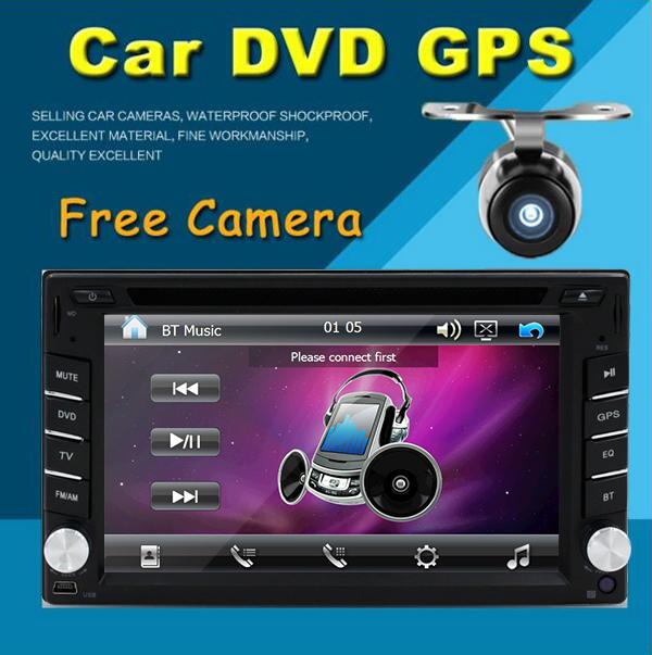 Free Rear Camera 6.2 Inch Car Radio Double 2 din Car DVD Player GPS Navigation Car PC Head Unit Video Music Player Free GPS map(China (Mainland))