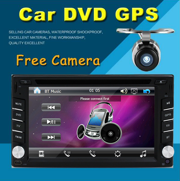 Free Rear Camera 6.2 Inch Car Radio Double 2 din Car DVD Player GPS Navigation Car PC Head Unit Video Music Player Free GPS map(China (Mainland))
