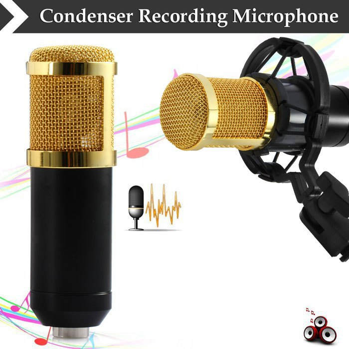 2015 hot sale BM - 800 Dynamic Condenser Wired Microphone Mic Sound Studio for Recording Kit KTV Karaoke with Shock Mount(China (Mainland))