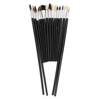 высокое качество цена 15pcs ассорти размер набора художника краски инструменты кистей для масляной живописи акварели