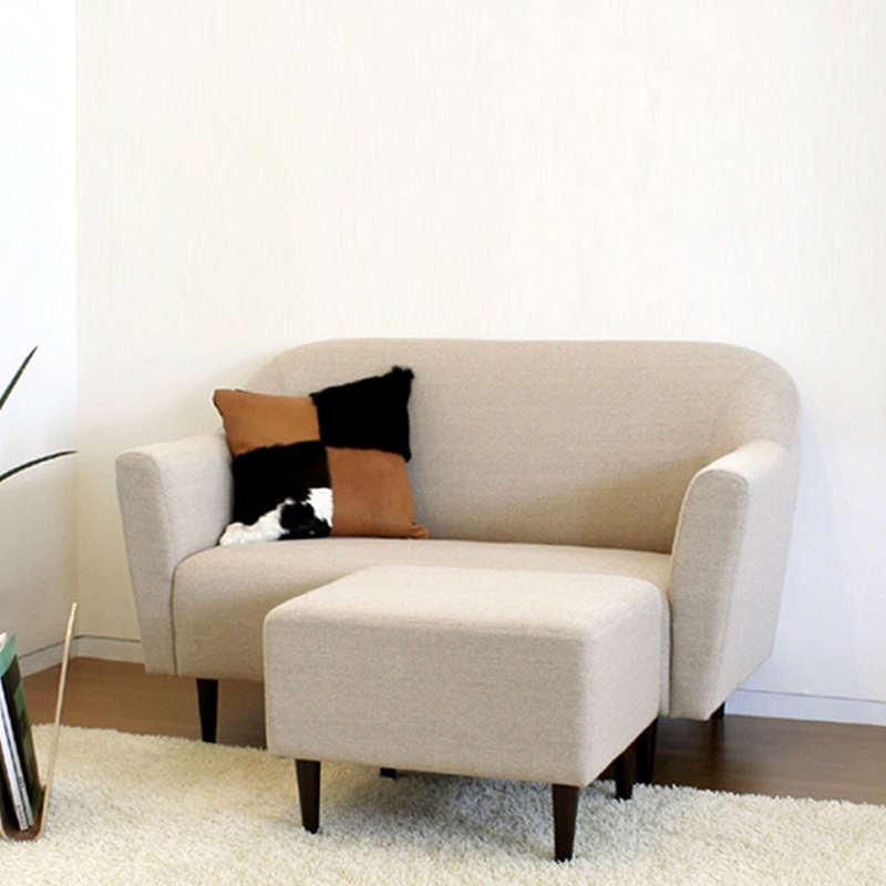 Japanese minimalist small apartment sofa modern fabric for Minimalist sofa