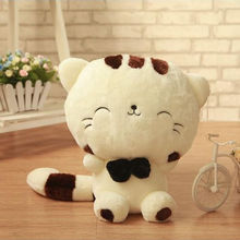 "18"" 45CM Include Tail Cute Plush Stuffed Toys Cushion Fortune Cat Doll High 13''(China (Mainland))"