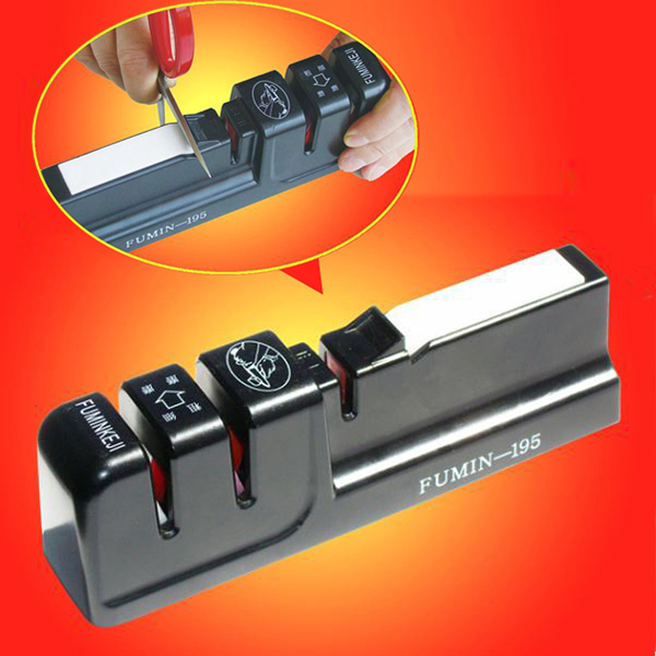 Professional Stainless Steel Knife Sharpener Home Kitchen Knives Accessories Whetstones Scissor Sharpener(China (Mainland))