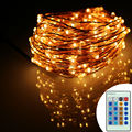 8 Colors 12m 240Leds Copper Wire Remote Control LED String Light Starry Lights Warm White Christmas