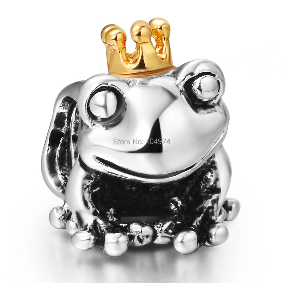 Wholesale Frog Prince Charm 925 Sterling Silver Charms European Beads Fit diy Bracelets Snake Chain Women Jewelry(China (Mainland))