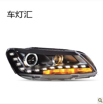 Passat headlight assembly vw angel eyes passat refires dacryops led lamp xenon headlights(China (Mainland))