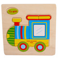 High Quality Wooden Cute Train Puzzle Educational Developmental Baby Kids Training Toy Aug24