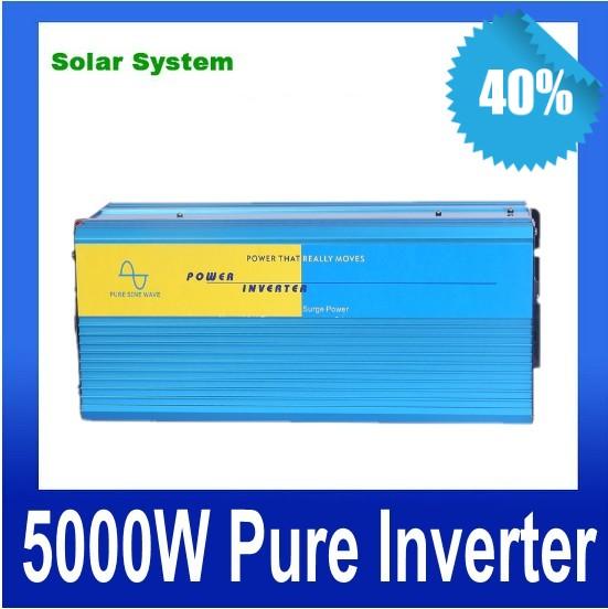5000W de onda sinusoidal pura inversor Off Grid inverter 12V 24V DC to AC 110V or 230V,Pure Sine Wave Solar Wind Power Inverter(China (Mainland))