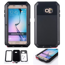 Luxury Dustproof Shockproof Waterproof Case For Samsung Galaxy S6 G9200 Armor Aluminum Metal Cover Gorilla Glass Hard Cover