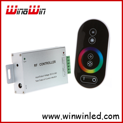 DC 12-24V Wireless Controller RF Touch Panel LED Dimmer RGB Remote Controller for RGB LED Strips(China (Mainland))