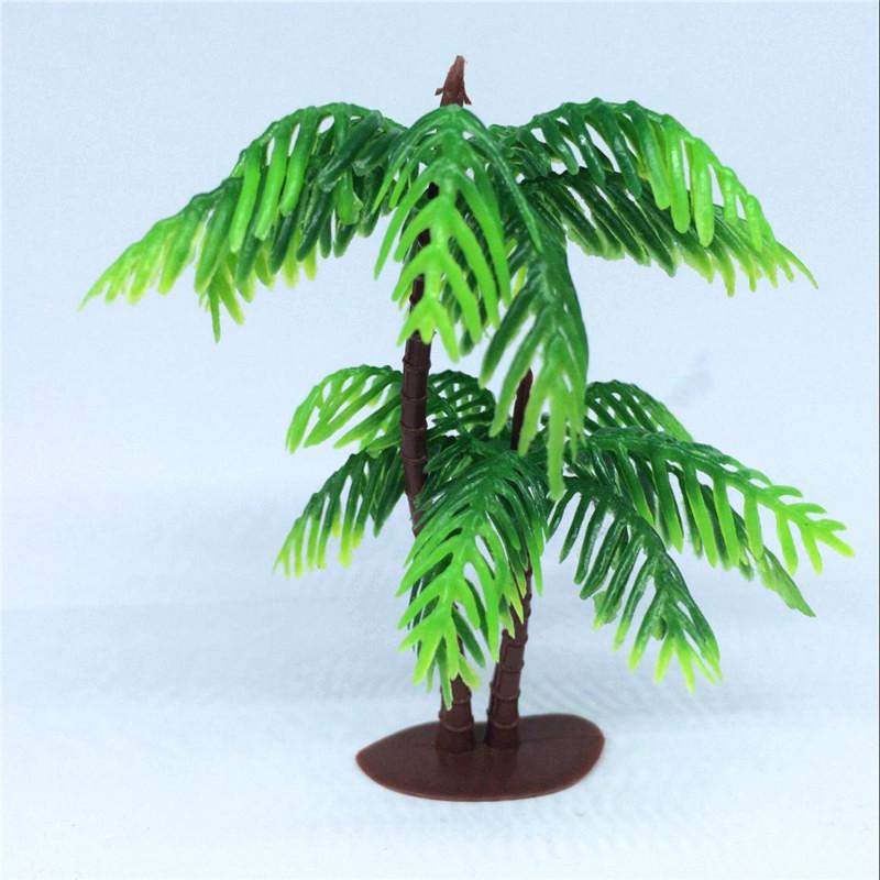 10pcs Artificial Plants Plastic Tree Branches Leaves 9cm large palm leaf Decor Home Garden Wendding Decoration landscape plants(China (Mainland))