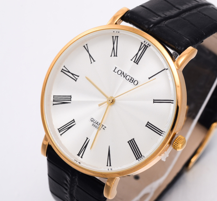 LONGBO Men luxury Brand Watches Imitation Water Quartz Watch Stainless steel Ultra-thin Watches Men(China (Mainland))