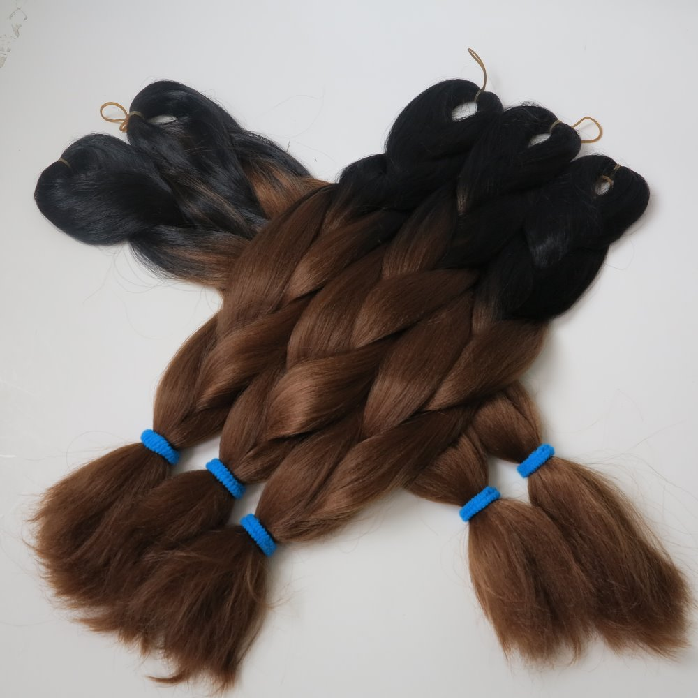 20 Quot Black Amp Auburn Brown 100g Ombre Two Tone Dip Dyed