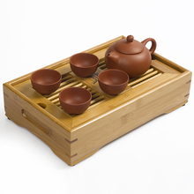 JiaLe Coffee Tea Sets Bamboo Tea Tray YIxing Zisha Purple Clay TeaSet Kung Fu Tea Mug