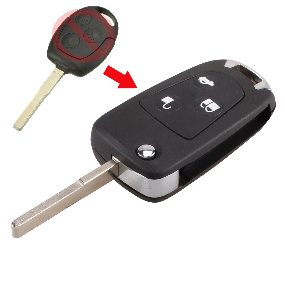 New 3 Buttons Modified Folding Remote Key Flip Fob Shell For FORD FOCUS MONDEO Fiesta With LOGO Free Shipping(China (Mainland))