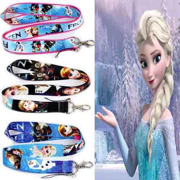 Frozon Sling Xmas Gift Elsa Anna Olaf Print Cartoon Phone Paper Lanyard Mobile Phone Straps(China (Mainland))