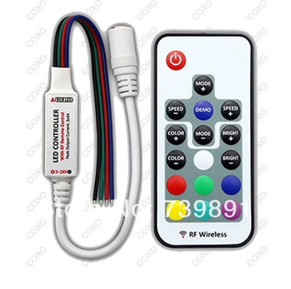 Free shipping in the Mini RF LED RGB Controller(China (Mainland))