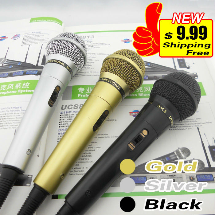 5-Year Warranty Free Shipping Quality Dynamic Microphone Mic Mike For KTV Karaoke PA Power Amplifier System With 3-Meter Cable(China (Mainland))