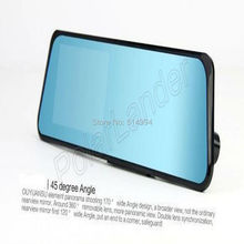 2015  HOT  Car dvr mirror Support GPS TF card View Cam 4.3 inch TFT LCD screen touch Full HD1080P Car Dvr lens 120 degree