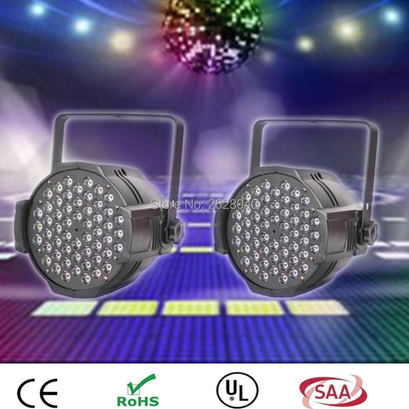(2pieces/lot) HOT high quality LED Studio Four Color RGBW 54x3W Par Can Light LED Lamp DMX 512 Control(China (Mainland))