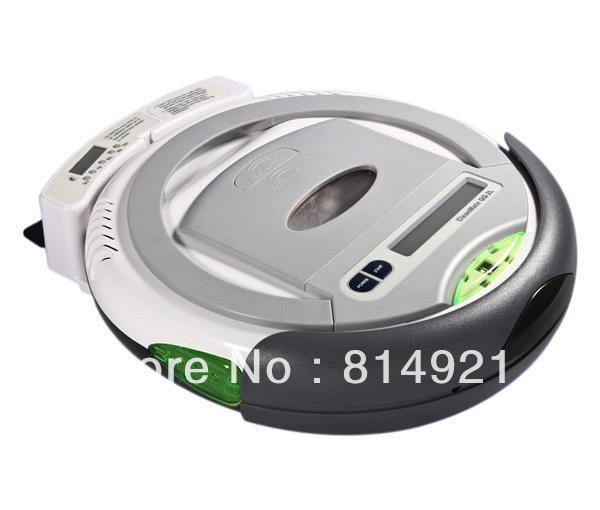 TOP-GRADE robot vacuum cleaner (robot pembersih)  UV light,auto-charge, it can clean the corner of your room