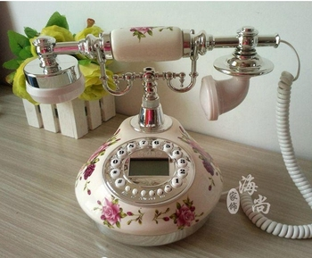 Antique ceramics telephone home fashion fitted antique telephone gold/Silver colors Caller ID