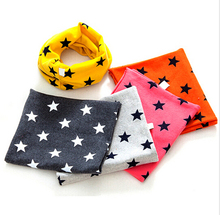 Newest Autumn Winter Chirldren print stars Baby scarf cotton Boys and girls Kids O ring child neck Scarves