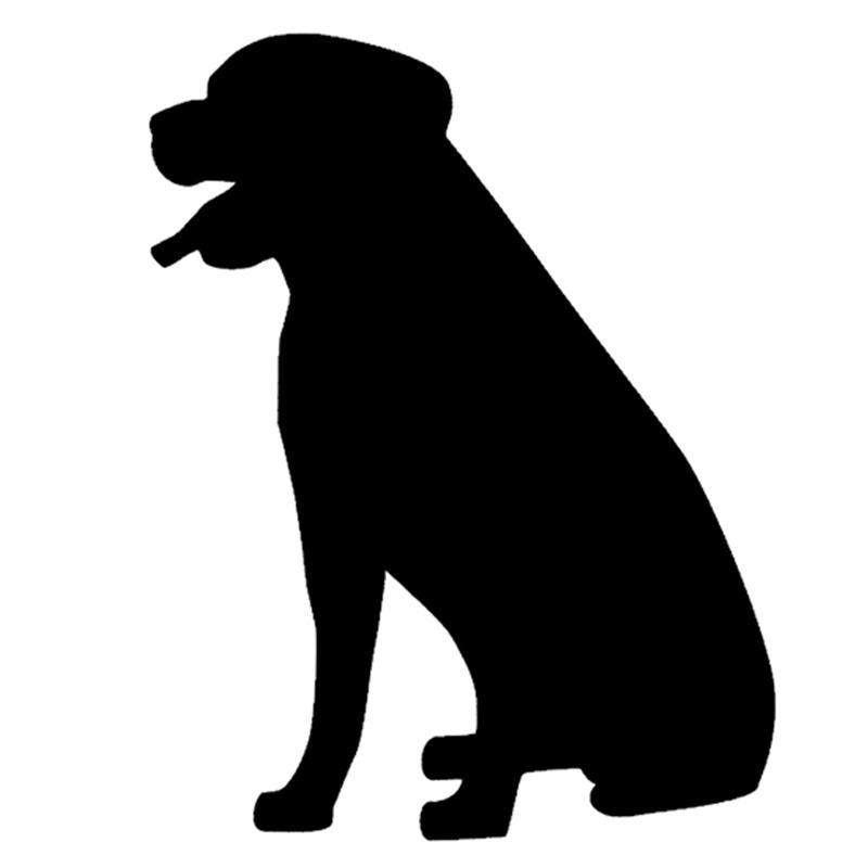 Large Dog Sitting In Car Window Decal Sticker