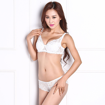 Sexy Underwear Brand New Women Lace Minimizer Padded Lace Sheer Push Up Bra 3/4 Cup