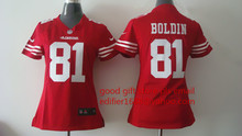 100% stitched women San Francisco 49ers ladies 16 Joe Montana 42 Ronnie Lott 80 Jerry Rice 82 Torrey Smith 81 Anquan Boldin(China (Mainland))