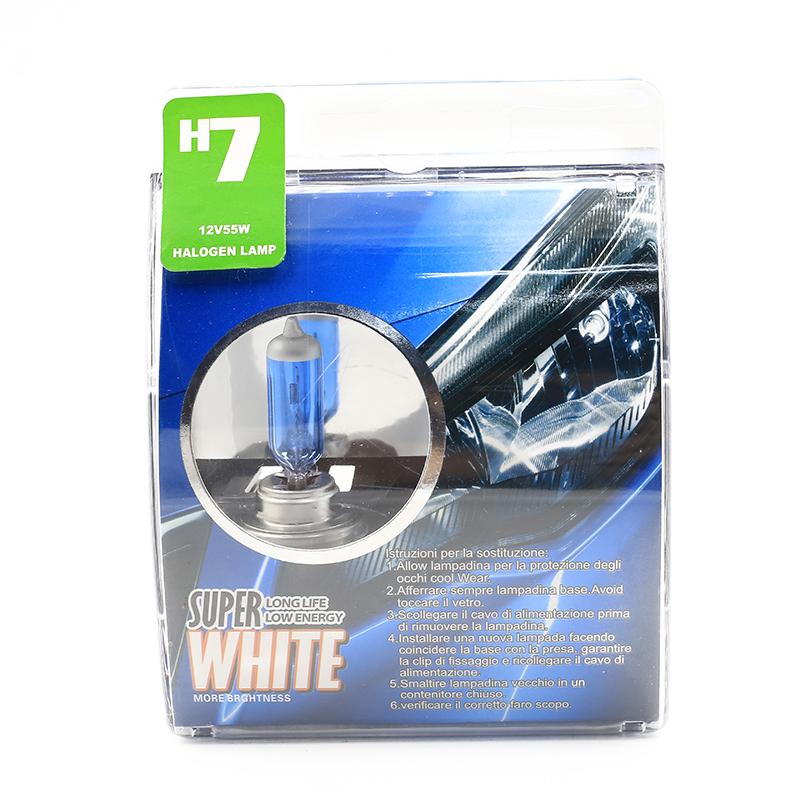 H7 55W 12V Halogen Bulb Super Xenon White Fog Lights High Power Car Headlight Lamp Car Light Source parking auto