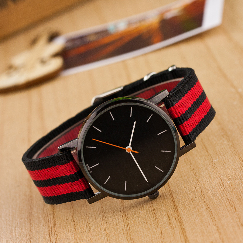Colour Mixture Weaving Rope Band Sports Classical Black Dial Analog Quartz relogio Watch Sports Casual Watch Men watch LZ032(China (Mainland))