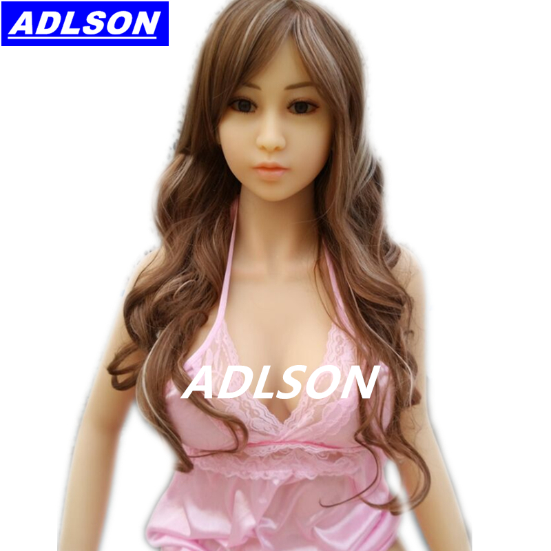 Solid Silicone Sex Doll For Men Japanese Lifelike Full Silicone Sex Doll With Skeleton 161cm Realistic TPE Mannequins Love Dolls(China (Mainland))