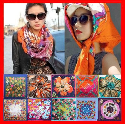summer style scarf brand silk square scarf woman lady hijab under scarf head scarf 90*90cm S-001(China (Mainland))