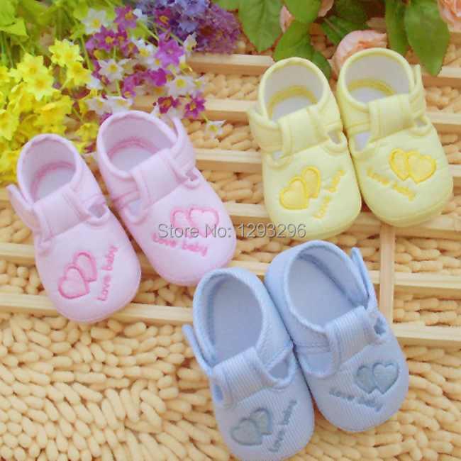 Kids girl infant Unisex Soft Sole prewalker Shoes Cotton Lovely Anti slip Shoe First Walkers 0