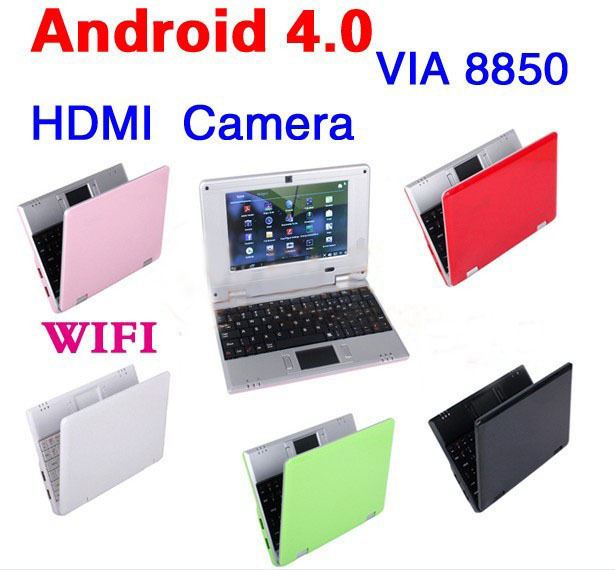 New Hot 7INCH MINI LAPTOP COMPUTER BUILT IN WI-FI WINDOWS OS HDD 4GB CUP VIA 8850 NETBOOK(China (Mainland))