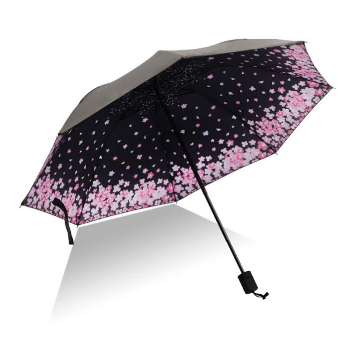 XIANGNAIZUI Full Automatic 3D Floral White Chinese Sun Umbrella 3 Folding Umbrella Rain Women Anti UV Outdoor Travel Color : Item6